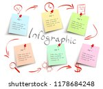 modern vector infographic with... | Shutterstock .eps vector #1178684248