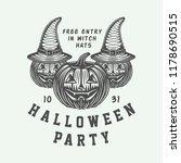 vintage retro halloween logo ... | Shutterstock .eps vector #1178690515