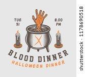 vintage retro halloween logo ... | Shutterstock .eps vector #1178690518