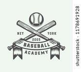 vintage baseball sport logo ... | Shutterstock .eps vector #1178691928