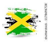 grunge brush stroke with... | Shutterstock .eps vector #1178696728