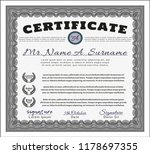 grey diploma template or... | Shutterstock .eps vector #1178697355