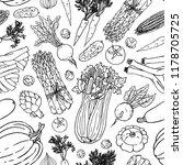 vegetable vector seamless...   Shutterstock .eps vector #1178705725