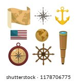 set of travel icons | Shutterstock .eps vector #1178706775