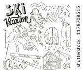 ski equipment in vector  ski... | Shutterstock .eps vector #1178708515