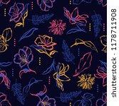 colorful hand drawn dark...   Shutterstock .eps vector #1178711908