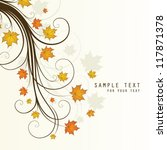 background with autumn tree | Shutterstock .eps vector #117871378