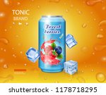 berry mixed juice advertising.... | Shutterstock .eps vector #1178718295