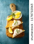 shrimp sandwich with lemon and... | Shutterstock . vector #1178732065