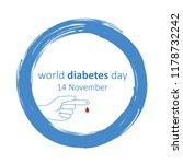 world diabetes day 14 november... | Shutterstock .eps vector #1178732242