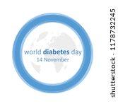 world diabetes day 14 november... | Shutterstock .eps vector #1178732245