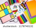 stationery  colorful pencils | Shutterstock . vector #1178740132