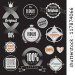 set of retro vintage labels ... | Shutterstock .eps vector #117874066