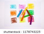 crayon rectangular colorful... | Shutterstock . vector #1178743225