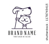creative logo design dog and... | Shutterstock .eps vector #1178745415