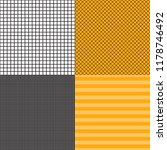 Vector Set Of Striped And Grid...