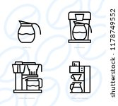 types of coffee equipment icon... | Shutterstock .eps vector #1178749552