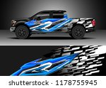 car decal wrap  truck and cargo ... | Shutterstock .eps vector #1178755945