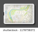 city map route navigation... | Shutterstock .eps vector #1178758372