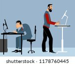 two man working at the office... | Shutterstock .eps vector #1178760445
