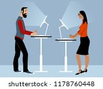 male and female employee... | Shutterstock .eps vector #1178760448