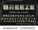 font handcrafted typeface... | Shutterstock .eps vector #1178761612