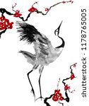 Japanese Crane Bird Drawing . ...