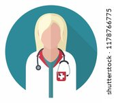 vector medical icon woman... | Shutterstock .eps vector #1178766775