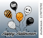 isolated halloween party scary...   Shutterstock .eps vector #1178770702
