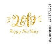 happy new 2019 year. vector... | Shutterstock .eps vector #1178771308