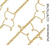 baroque golden chain ... | Shutterstock . vector #1178776768