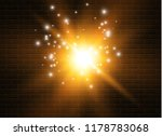 yellow glowing light explodes... | Shutterstock .eps vector #1178783068