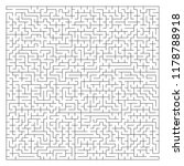 abstract complex square maze... | Shutterstock .eps vector #1178788918