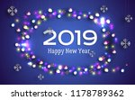 new year greeting poster with... | Shutterstock .eps vector #1178789362