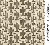 cactus seamless monochrome... | Shutterstock .eps vector #1178790082