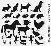 pets silhouettes icons set | Shutterstock .eps vector #1178790115