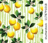 seamless citrus pattern with... | Shutterstock .eps vector #1178791018