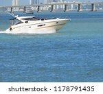 well appointed cabin cruiser... | Shutterstock . vector #1178791435