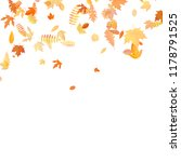 autumn background with golden... | Shutterstock .eps vector #1178791525