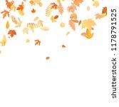 autumn background with golden... | Shutterstock .eps vector #1178791525