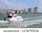 white motor yacht on the intra... | Shutterstock . vector #1178795518