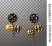 happy halloween. flying set of... | Shutterstock .eps vector #1178809498