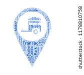 caravan park location word... | Shutterstock .eps vector #1178810758
