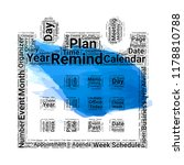 calendar word cloud vector...