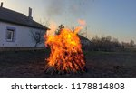 huge fire  huge bonfire near... | Shutterstock . vector #1178814808