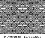 seamless pattern with striped... | Shutterstock .eps vector #1178822038