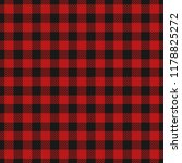 red and black lumberjack... | Shutterstock .eps vector #1178825272