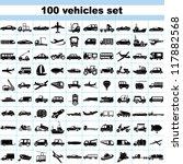 100 vehicles  set of vehicles ... | Shutterstock .eps vector #117882568
