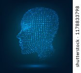 the glowing head of a human... | Shutterstock .eps vector #1178833798