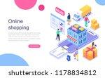 online shopping modern flat... | Shutterstock .eps vector #1178834812